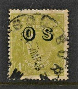 STAMP STATION PERTH Australia #O4 OS Overprint Wmk.203 CV$30.00