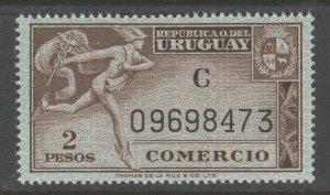 Uruguay revenue Fiscal stamp 10-9-20T MNH Gum a22