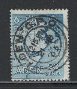 Aden 1956 Queen Elizabeth Definitive 50c Scott # 53a Used SON