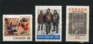 Can #1040,1043-44   -1   used VF 1984 PD
