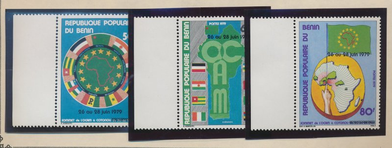 Benin Stamp Scott #434 To 436, Mint Never Hinged - Free U.S. Shipping, Free W...