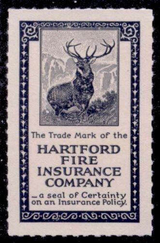 US - Hartford Fire Insurance Co. Poster Stamp