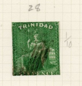 Trinidad 1860s Early Issue Fine Used 6d. 284506