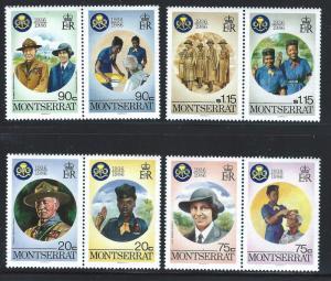 Montserrat MNH 592-5 60th Anniversary Of Girl Guides 1986