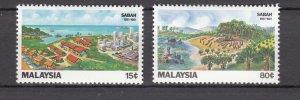 J27482 1981 malaysia set mh #228-9 views