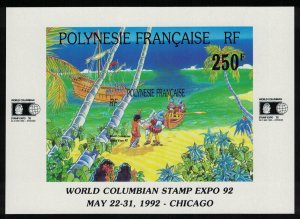 Fr. Polynesia World Columbian Stamp Expo '92 Exhibition Chicago MS SG#MS643