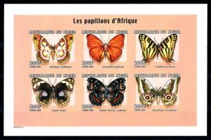 [95581] Niger 2000 Insects Butterflies Imperf. Miniature Sheet MNH