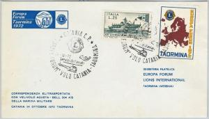 59830 -  ITALY  - POSTAL HISTORY: POSTMARK on  COVER  1972 -  LIONS / HELIPOCTER