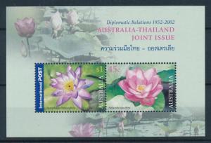 [73869] Australia 2002 Flora Flowers Blumen Joint Issue Thailand Sheet MNH