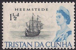 Tristan Da Cunha 1965 - 67 QE2 1 1/2d Heemstede MM SG 73 ( J908 )