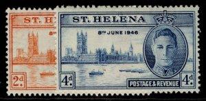 ST. HELENA GVI SG141-142, VICTORY set, M MINT.