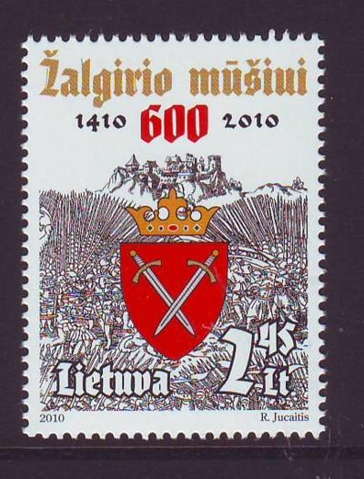 Lithuania Sc 920 2010 Battle of Grunwald stamp mint NH