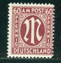 Germany AM Post Scott # 3N18, mint nh, variation