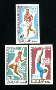 Mauritania Stamps # C87-9 Imperf sports NH
