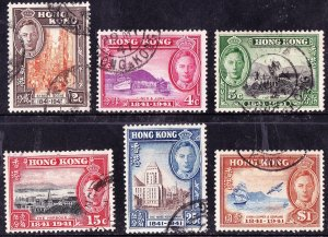 Hong Kong 1941 KGVI entenary of British Rule SG163-168 FU