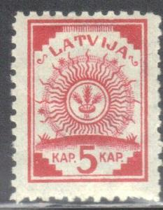 LATVIA SC# 6 **MH** 1919 5k COAT OF ARMS  SEE SCAN