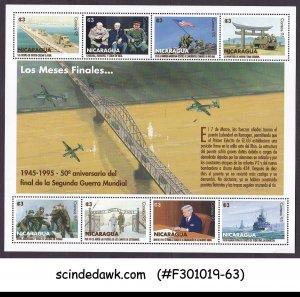NICARAGUA - 1995 50yrs OF END OF WORLD WAR II - MINIATURE SHEET MNH