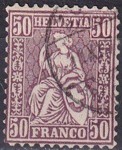 Switzerland #59 F-VF  Used CV $55.00  (S10047)
