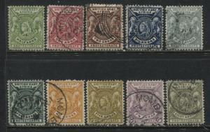 British East Africa QV 1898 1/2 anna to 8 annas used less 1 anna deep rose