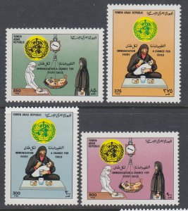 Yemen 520-523 WHO MNH VF