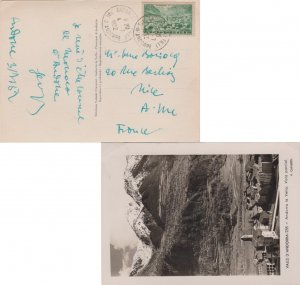 Andorra French Administration 12F Old Andorra 1952 Andorre La Vieille, Val d'...
