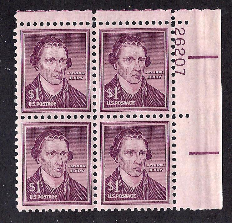 1052 Mint,OG,NH...  Plate Block of 4