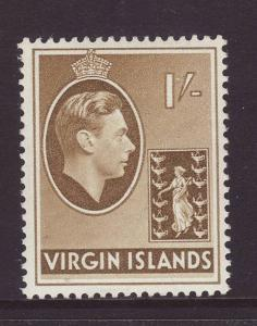 1942 Br Virgin Is 1/- Ordinary Paper Mint SG117a