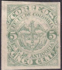 Colombia Antioquia #13 Unused  CV $17.50 (A19770)
