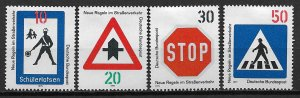 1971 Germany 1055-8 Traffic Signs C/S of 4 MH