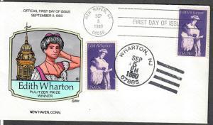 US Collins FDC SC#1832 Edith Wharton