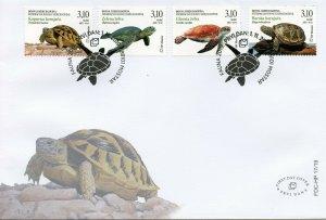 Bosnia & Herzegovina Turtles Stamps 2019 FDC Green Sea Turtle Reptiles 4v Set