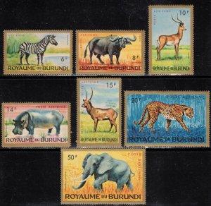 Burundi Scott #C1-7 MNH Complete Set Wild Animals