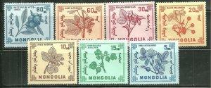 Mongolia MNH 475-81 Berries