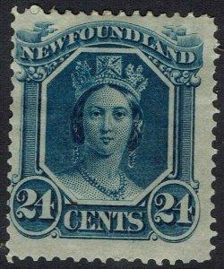 NEWFOUNDLAND 1865 QV 24C