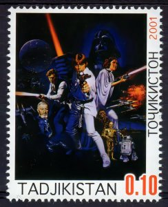 Tajikistan 2001  STAR WARS (1) Perforated MNH