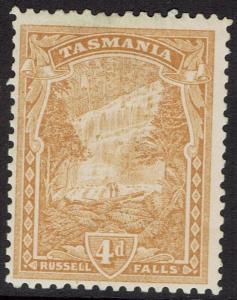 TASMANIA 1905 RUSSELL FALLS 4D WMK CROWN/A  PERF 11