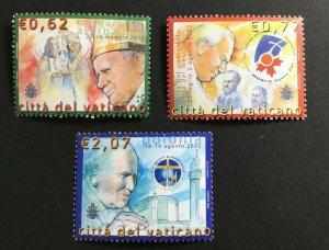 Vatican City Sc# 1253-1256 MNH Mint Never Hinged Pope Johns Paul II Travels 2002