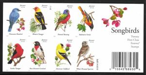 US #4891b (49c) Song Birds MNH Pane of 20 Imperf