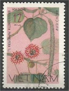 VIETNAM, 1977, CTO 12xu Wildflowers Scott 885