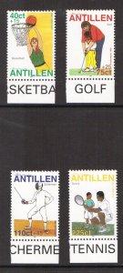Netherlands Antilles   #B336-B339  MNH  1999  sports