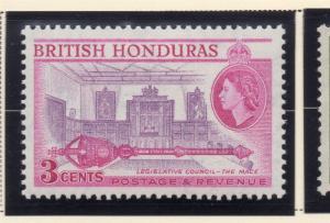 British Honduras 1953 Early Issue Fine Mint Hinged 3c. 228633