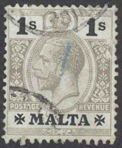 Malta Sc# 59 Used (a) 1914-1921 1sh King George V