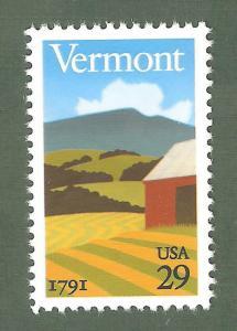 2533 Vermont Statehood US Single Mint/nh FREE SHIPPING
