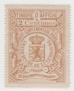 Luxembourg Revenue tax Fiscal stamp 6-6-21 nice- mint gum-slight lite gum crease