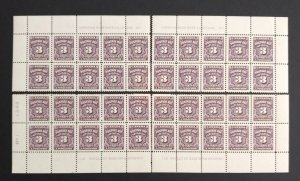 Canada J16B Plate Blocks Matched Set No 1 VF MNH