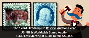 The 173rd HipStamp No Reserve Auction Event
