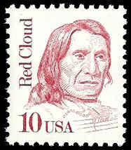 PCBstamps  US #2175d 10c Red Cloud, mottled tagging, MNH, (1)