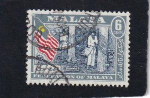 Malaya,  Federation of Malaya     #     80    used