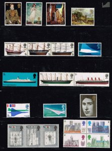 UK STAMP GREAT BRITAIN MNH STAMPS COLLECTION LOT  #M4