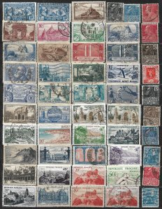 COLLECTION LOT OF 50 FRANCE 1927+ STAMPS CLEARANCE